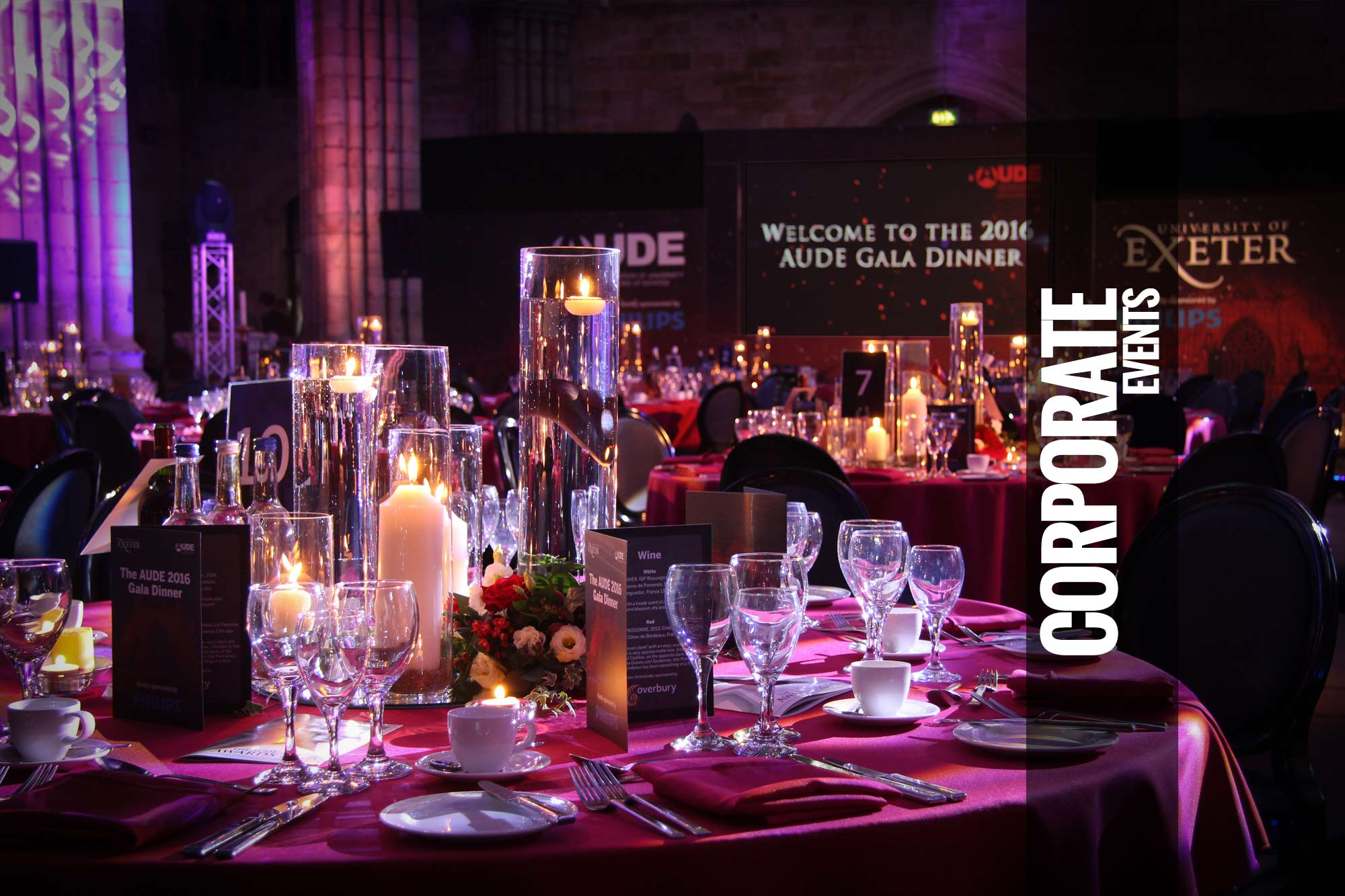 Corporate parties or events